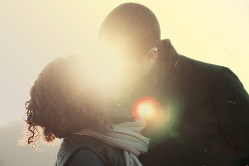 Couple, Kiss, Love, Man, Woman, Grunge