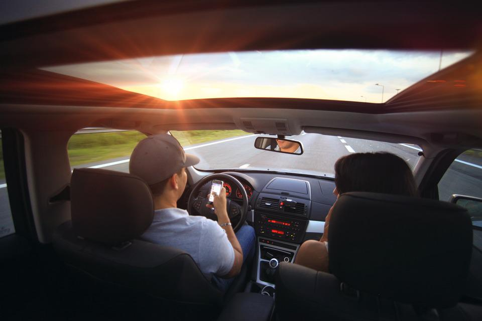 Driving, Car, Automobile, Driver, Interior, Couple