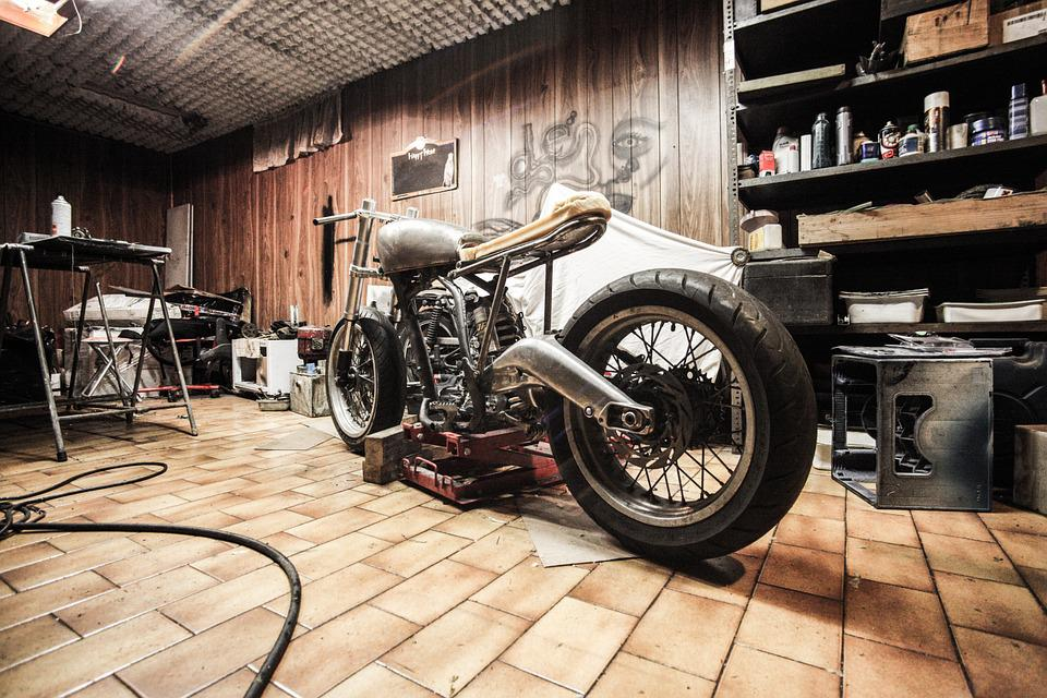 Motorfiets, Garage, Reparaties, Hobby, Automotive