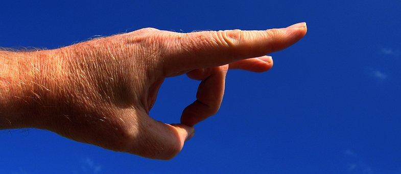 手, 指, フリック, スナップ, 放り出す, 解任, 捨てる, さようなら