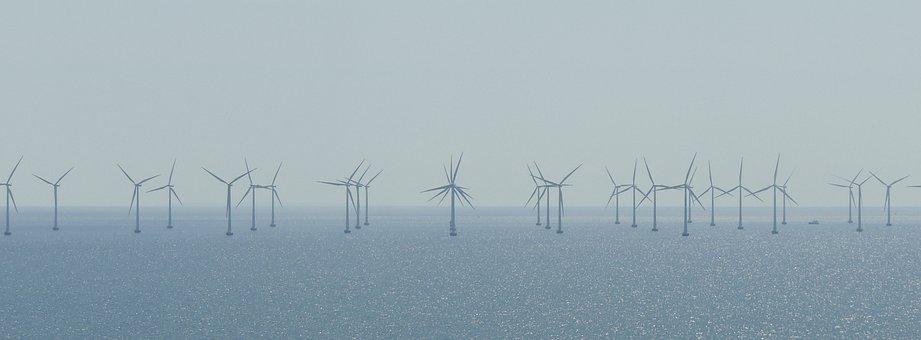 Windräder, Parc Éolien, Lac, L'Énergie