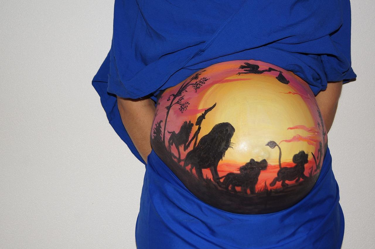 Боди арт беременных животиков фото