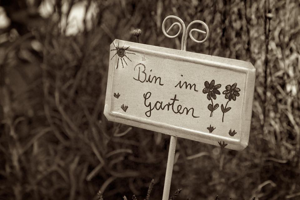 Schild Garten Spruch Kostenloses Foto Auf Pixabay