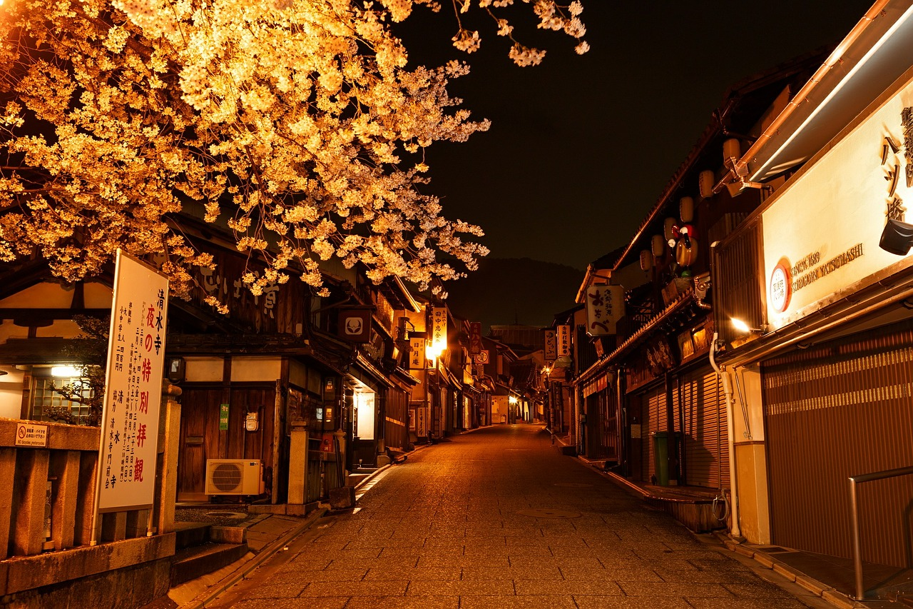 Японские картинки ночь, мужчине день