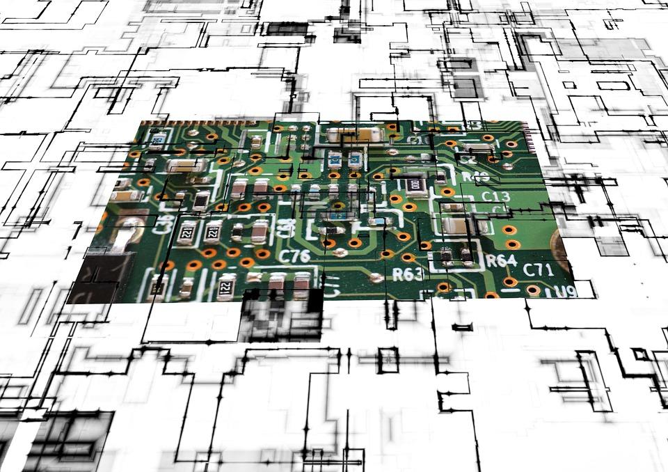 ボード, 回路, コントロール センター, 技術, シルバー, シリコン, 科学, プロセッサ