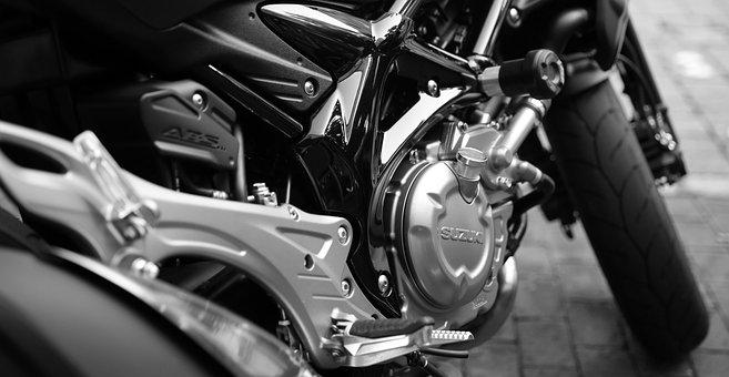 Motorcycle, Suzuki, Motor, Silver