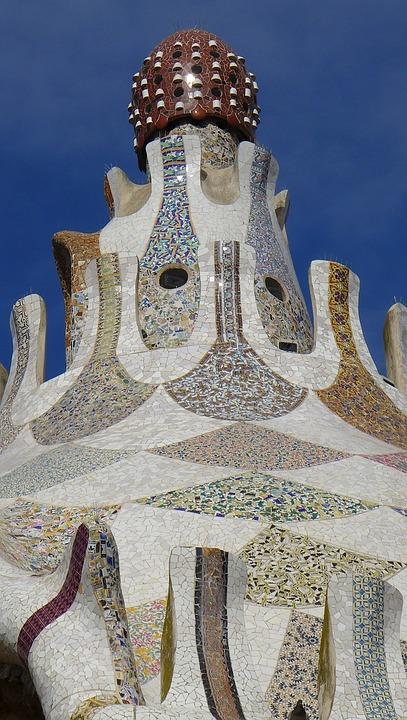 Foto gratis barcelona mosaico efecto gaud imagen for Barcelona jardin gaudi