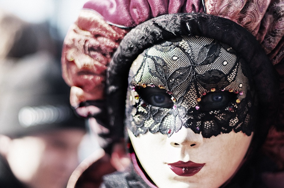 Carnival, Venice, Eyes, Mask, Woman, Disguise, Hidden