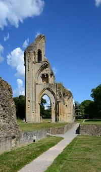 Glastonbury, Cathedral, Ruin, Henry Viii