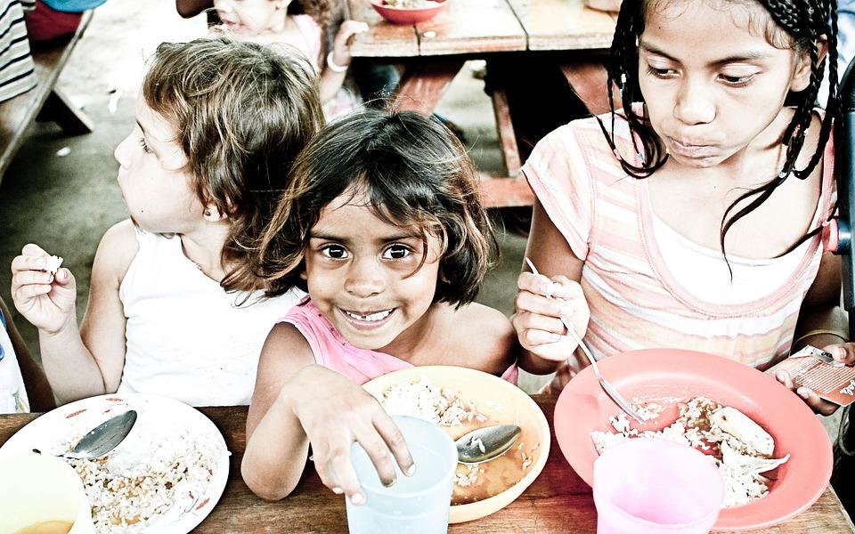 孤児, 子供, 食べること, 貧困, 小児期, 飢えた, 子, 女の子, 飢餓, 幼児, 人, 食品