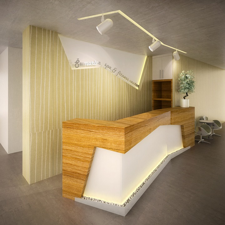 Reception hotel desk interior free photo on pixabay for Design hotel reception