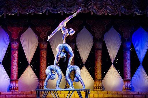 Acrobates, Cirque, Contorsion, Tihany