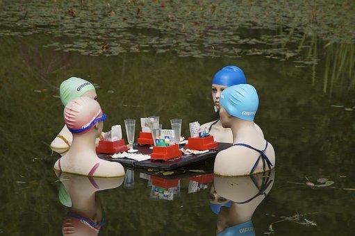 Frauen, Gespräch, Glücksspiel, Gruppe
