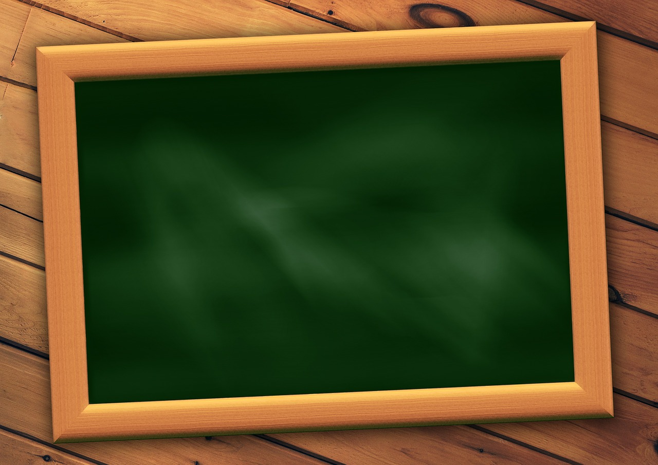 Картинка школьной доски с записями