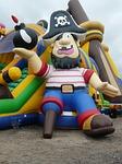 pirate ship, bouncy castle, air cushion