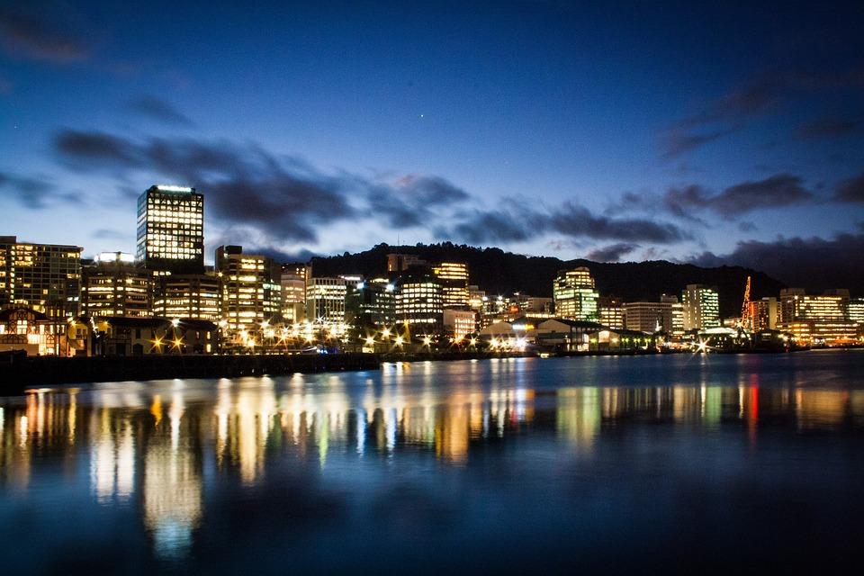 Noua Zeelanda, Wellington, Port, Golf, De Apă, Skyline