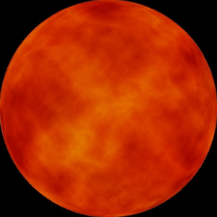 Orange Stars In Space Free illustration: Sun...