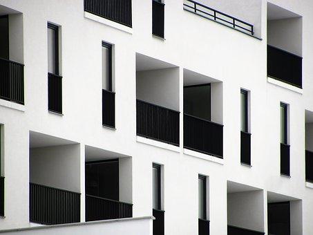 Bâtiment, Maison, Fenêtres, Balcon