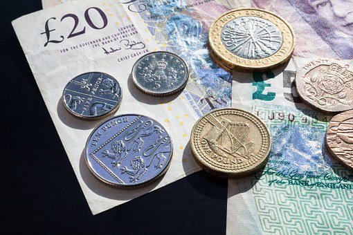 Pound, Coins, Currency, Bank Note, Money
