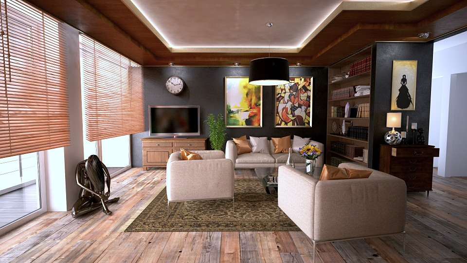 Wooden Color Living room design