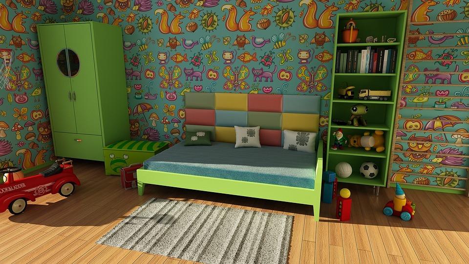 Wallpaper, Room, Wall, Apartment, Children'S Room