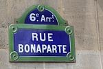 paris, rue, bonaparte