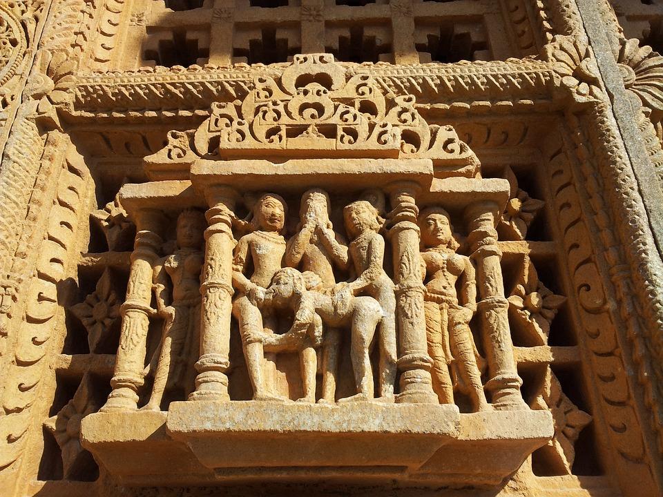 India, Tempel, Erotische, Stone, Tempel Cijfers