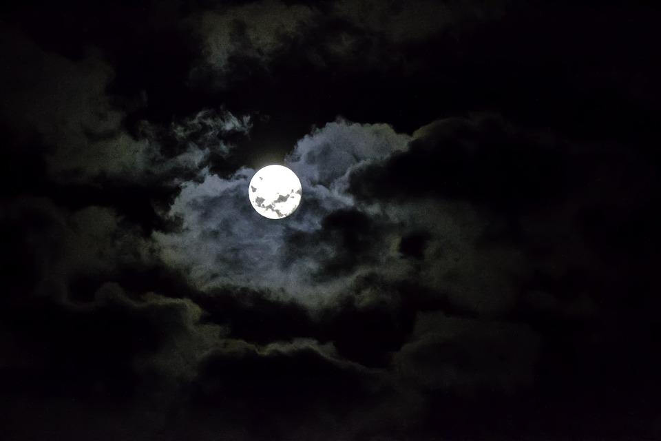 Free Photo Moon Sky Night Clouds Free Image On