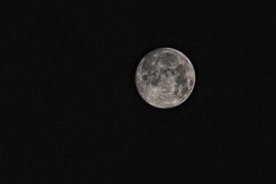 Mesiac, Super Moon, Miesto, Veda, Obloha