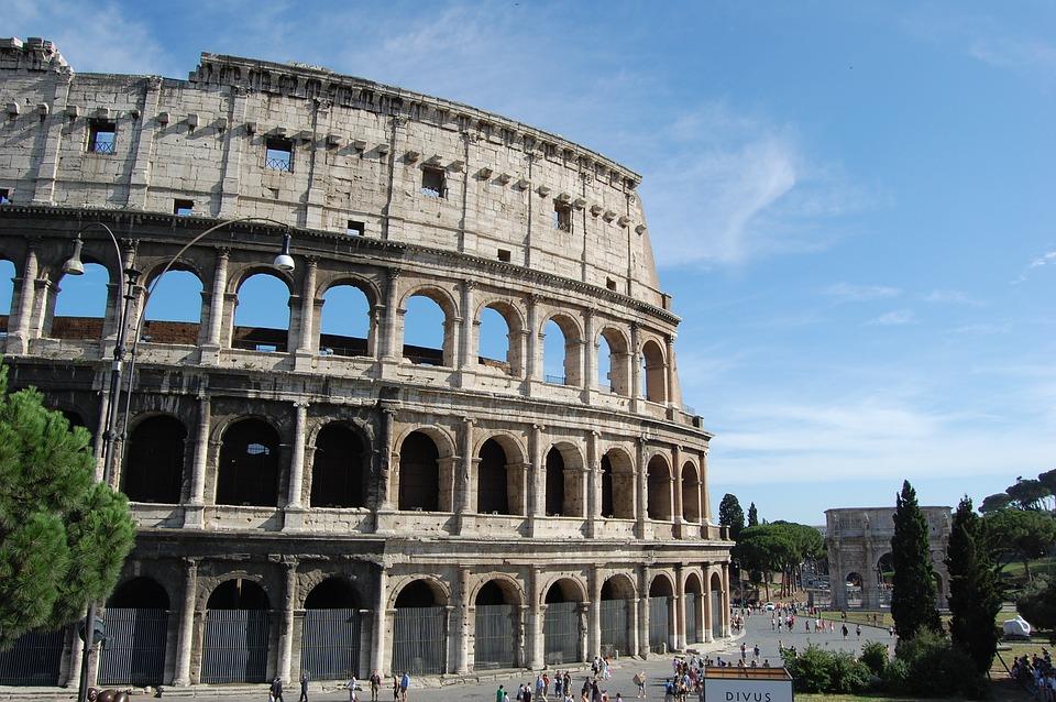 Koloseum, Rom, Architektura, Itálie, Evropa, Cestovní