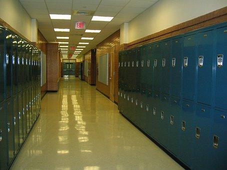 School, Lockers, Hallway, High School