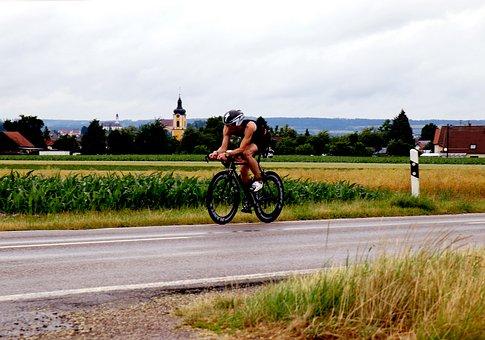 Triathlon, Triathlet, Radfahrer, Rennrad