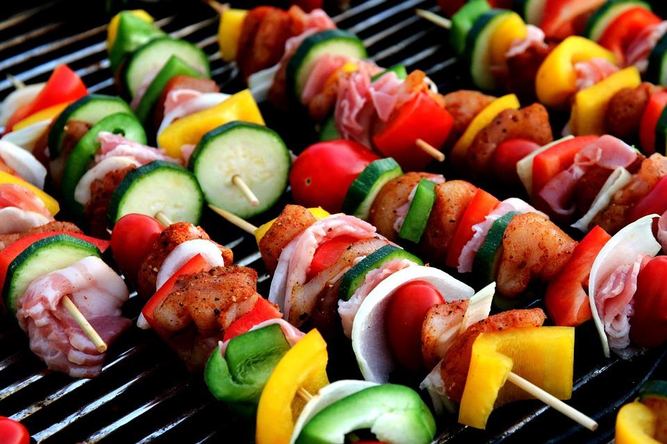 Shish Kebab, Meat Skewer, Vegetable Skewer
