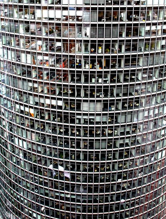 超高層ビル, ガラスのファサード, オフィス, ベルリン, 会社の本部, 会社, ドイチェ ・ バーン企業中央