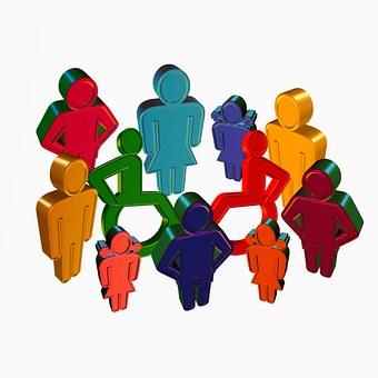 Gruppe, Person, Inklusion, Rollstuhl