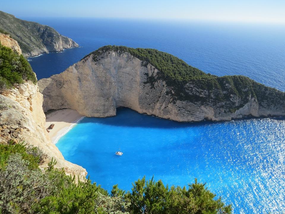 Beach, Cliff, Bay, Sea, Ocean, Blue Sea, Blue Ocean