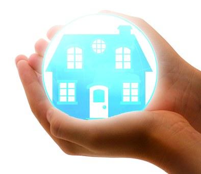 家の保険, 保護, ホーム, ケア, 安全, 手