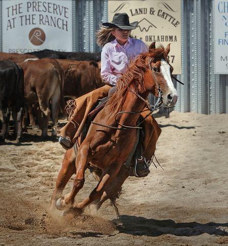 Cowgirl, Horse, Horseback, Ride