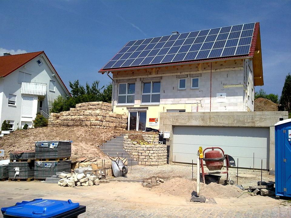 Bâtiment, Maison, Allemagne, Bétonnière, Brique, Mur