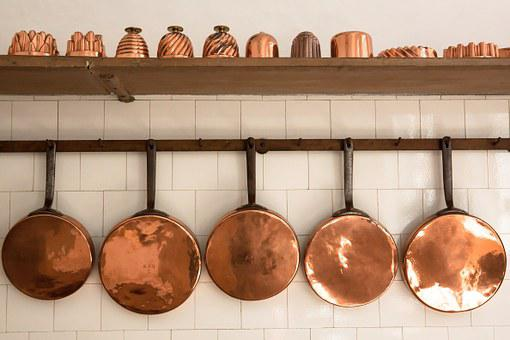 Pans, Copper, Old, Baking Moulds