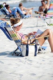Beach, Sand, Girl, Shore, Sunshine