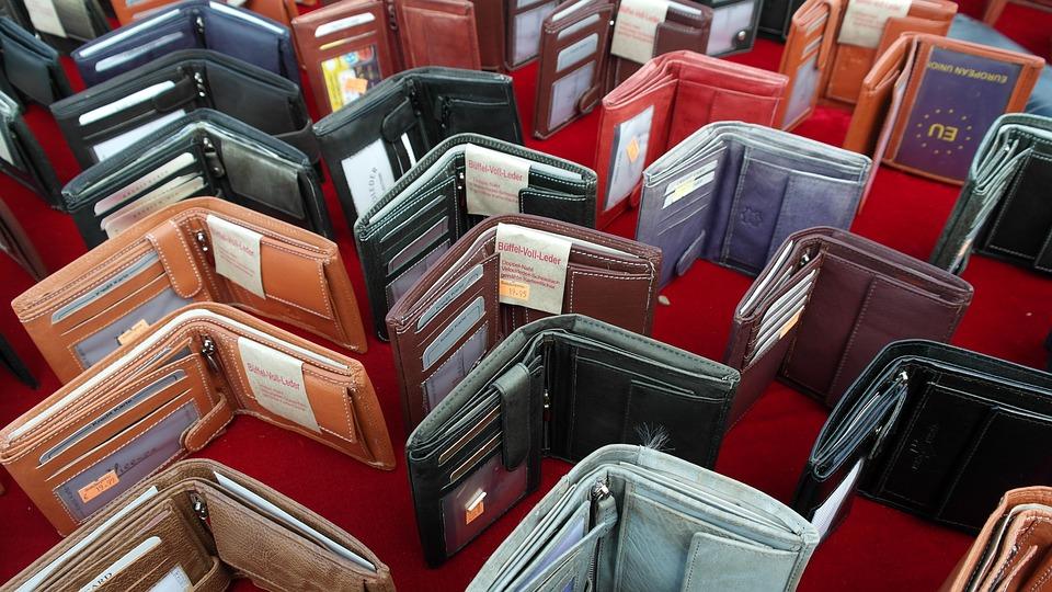กระเป๋าสตางค์, เงิน, จ่าย, ช้อปปิ้ง, หนัง, เครื่องหนัง