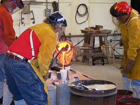 Molten Bronze Cast Iron Artists Crucible H