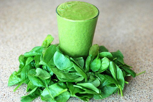Green, Smoothie, Leafy, Greens, Spinach