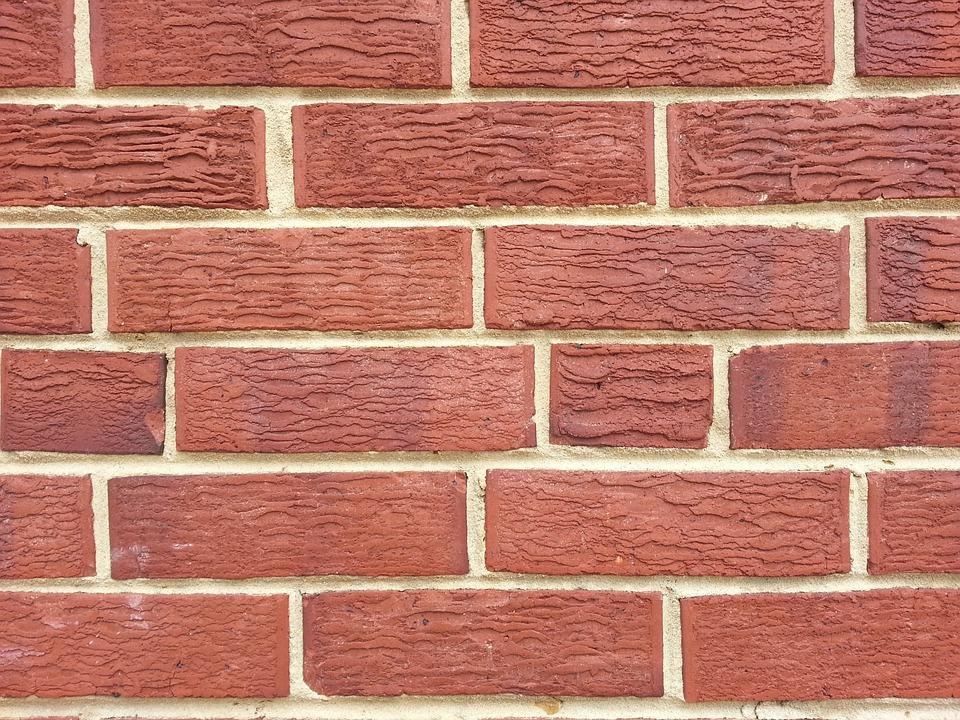 Brick Brickwork Red Foundation Blocks Pattern