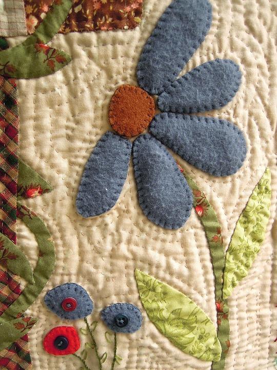Fabric Flower Patchwork Work 183 Free Photo On Pixabay