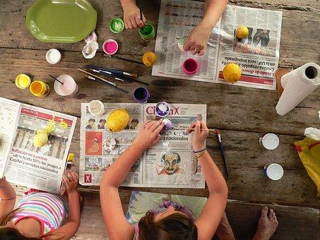 Art Paint Painting Tempera Crafts Children