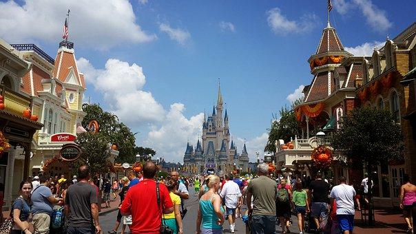 Disney Land Magic Kingdom Fantasa Castill