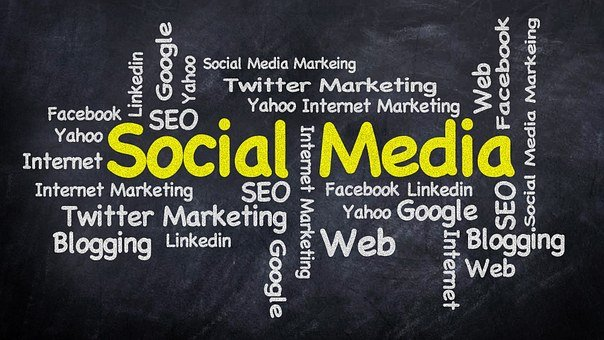 Social Media Word Cloud Marketing Internet