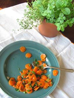 Plate Leftover Not Eaten Up Carrots Fresh